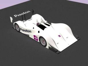 lemans car in white with preston on wing etc